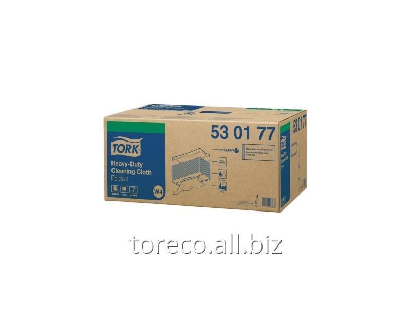 Купить Нетканый материал повышенной прочности в салфетках Tork W4, 80г/м2, 38.5х64.2, 60/5, Белый, Premium Код: 530177