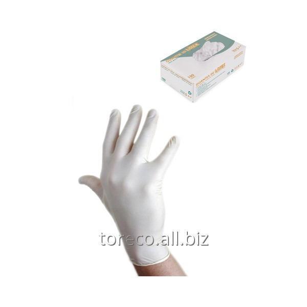 Купить Перчатки одноразовые латексные, LARGE, 100шт./уп. Код: 03203