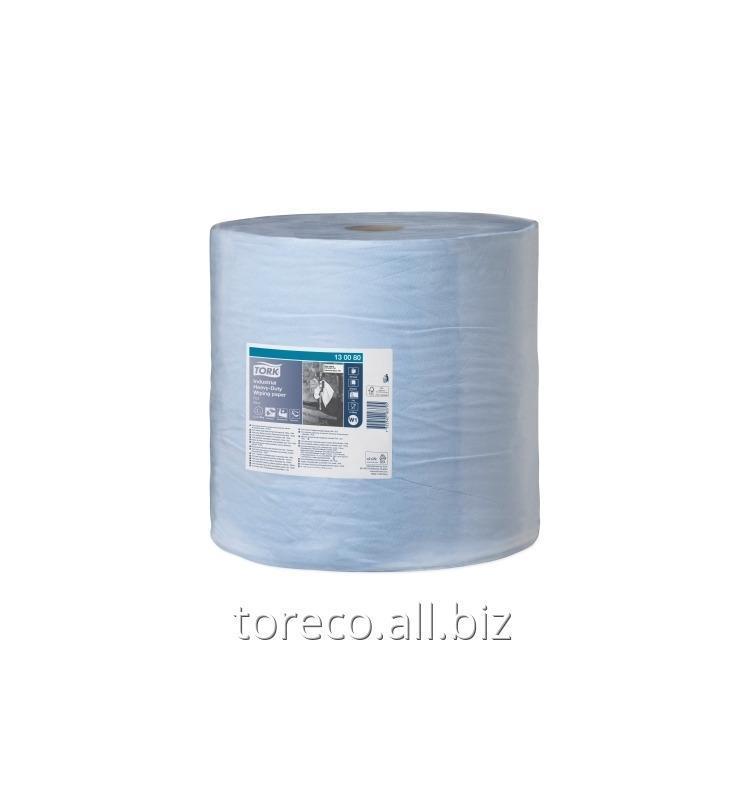 Купить Протирочная бумага суперпрочная в рулоне Tork 440 W1, 3сл., 255м, 34х36.9, 750/1, Голубой, Advanced Код: 130080