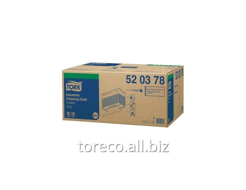 Купить Нетканый материал для удаления масла и жира в салфетках Tork W4, 65г/м2, 38.5х42.8, 140/5, Серый, Premium Код: 520378