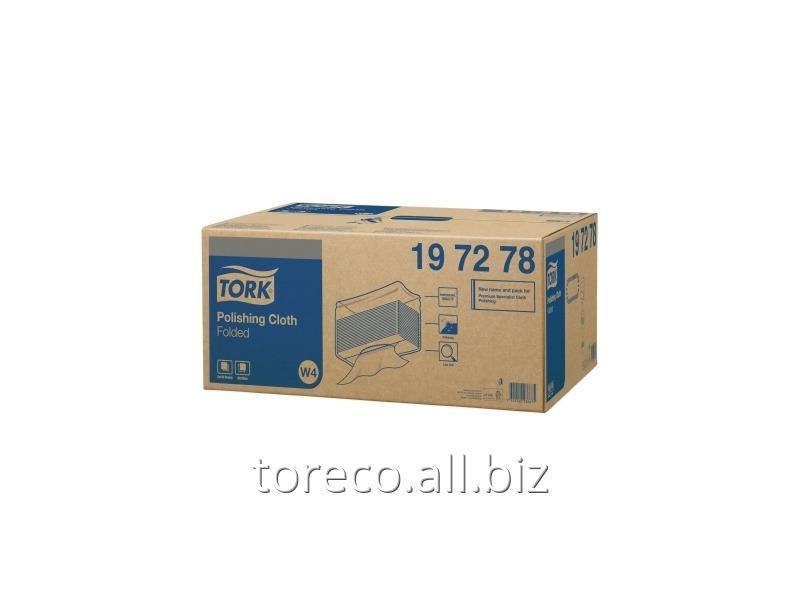 Купить Нетканый материал для полировки в салфетка Tork W4, 50г/м2, 38.5х42.8, 140/5, A Белый, Premium Код: 197278