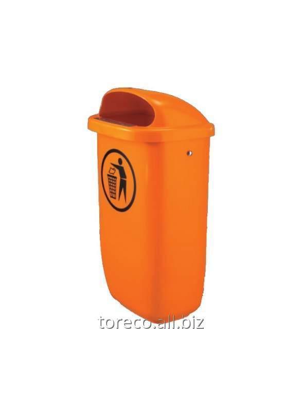Купить Урна пластиковая 50L, Oранжевый Код: 1052434