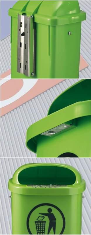 Купить Урна пластиковая 50L, Зеленый Код: 1053902