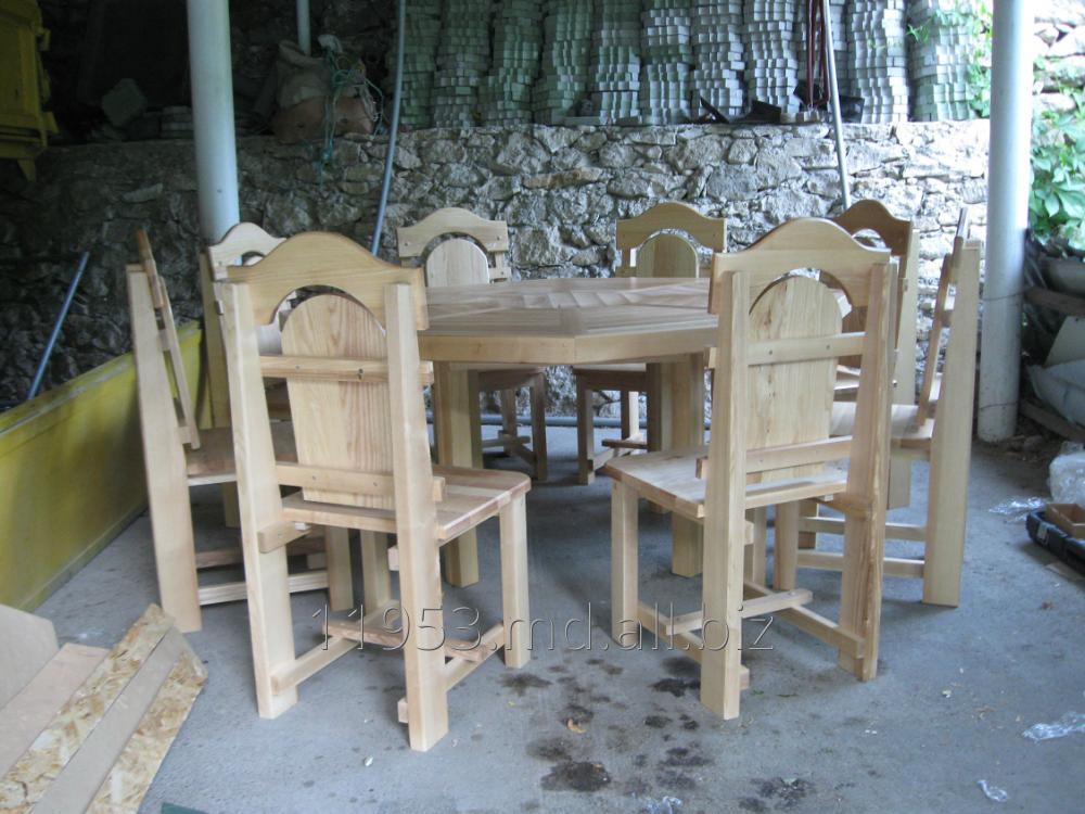 Купить Столы и стулья деревяные