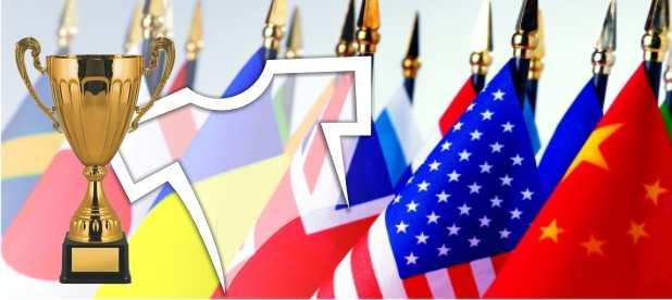 Купить Флаги атласные 2-х сторонние разных стран 1.5 x 2.25 m