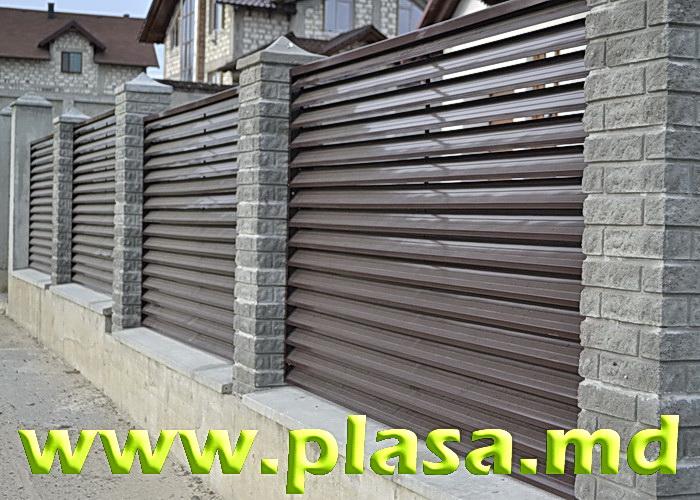 Купить Gard din jaluzele metalice.Забор жалюзи.