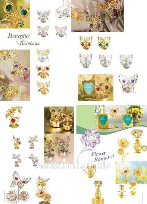 Купить Сувениры в виде бабочки и радуги тм Crystocraft