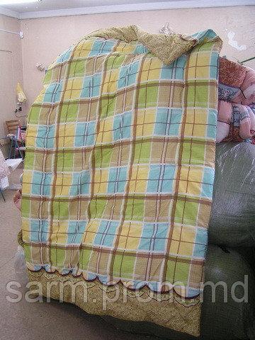 Стеганые силиконовые одеяла (145х215) полиэстер - наполнитель fiber ball