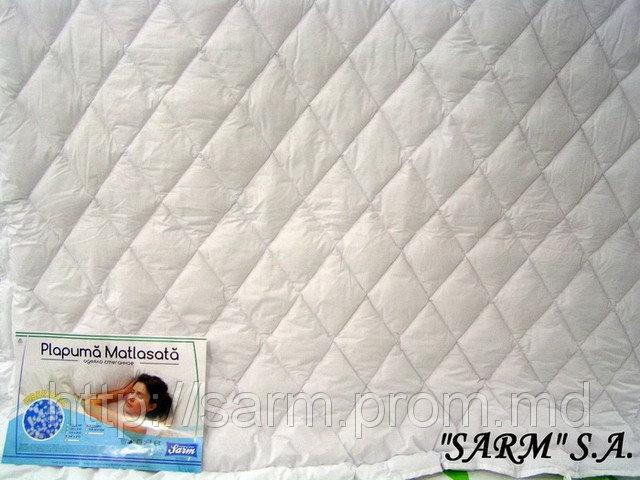 Стеганые силиконовые одеяла (195х215) - наполнитель fiber ball ВАЙТБОЛ