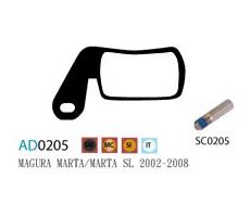 Колодки дисковые ASHIMA AD0205-SM-S w/screw