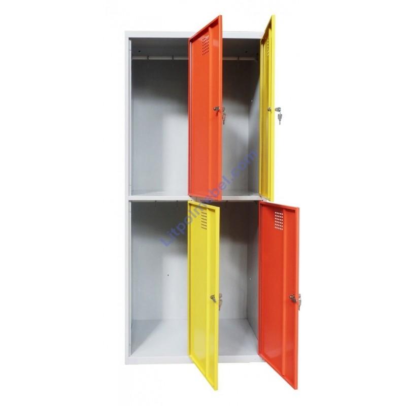 Локер-ячеечный металлический шкаф на 4 отделения Sus 422