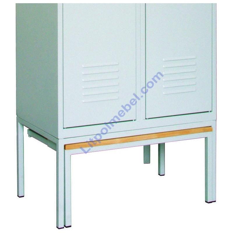 Выдвижная скамейка-подставка под одежный шкаф 800 мм Pw 421
