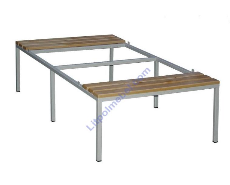 Скамейка-подставка под 2 гардеробных шкафа шириной 800 мм P 422
