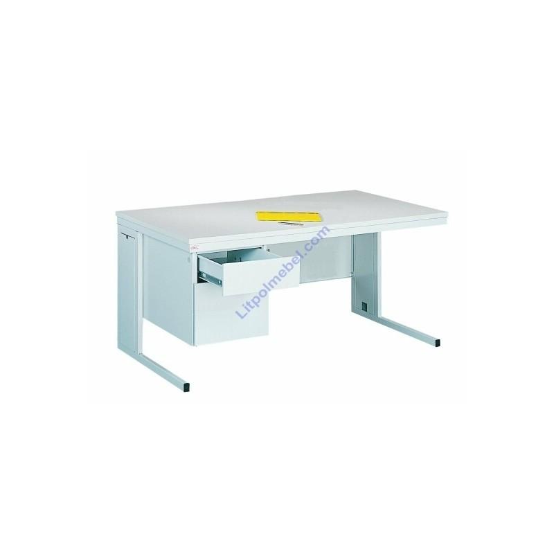 Купить Металлический офисный стол с двумя выдвижными ящиками Bim 232