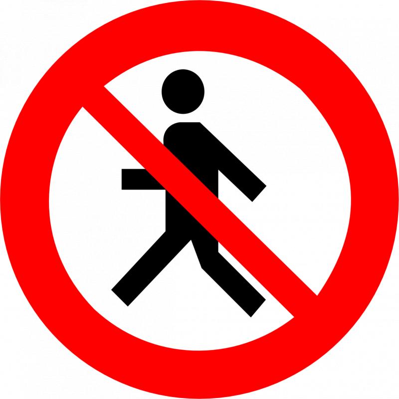 cumpără Indicator de interzicere sau restrictie «Circulaţie interzisă pietonilor» 3.13