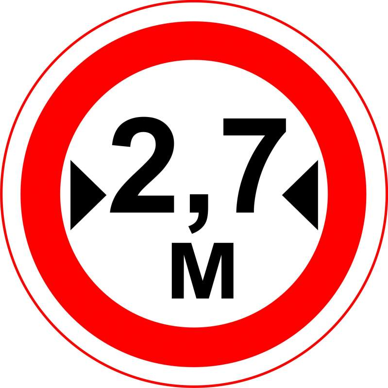 cumpără Indicator de interzicere sau restrictie «Lăţime limitată» 3.17