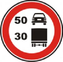 cumpără Indicator de interzicere sau restrictie «Viteză maximă limitată pe categorii de autovehicule» 3.29