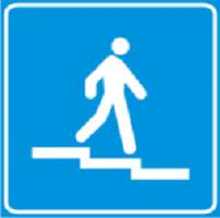 Купить Информационный знак Пешеходный переход на разных уровнях 5.51.1 - 5.51.4