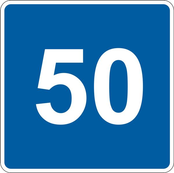 Купить Информационный знак Рекомендуемая скорость 5.52