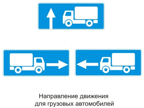 Купить Указательный знак Рекомендуемое направление движения грузовым автомобилям 5.72.1 - 5.72.3