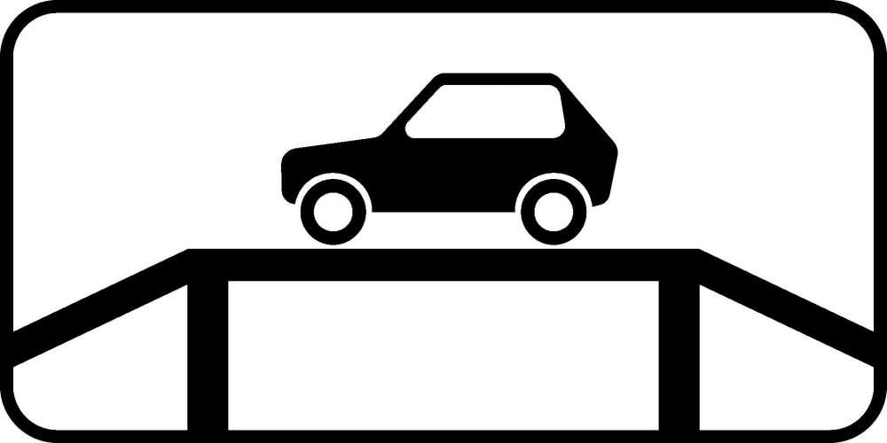 Купить Знак дополнительной информации Место для осмотра автомобилей 6.12