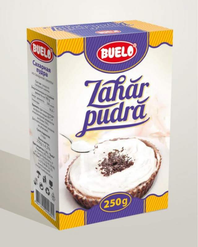 Сахарная пудра, Zahar Farin 250 gr cutie