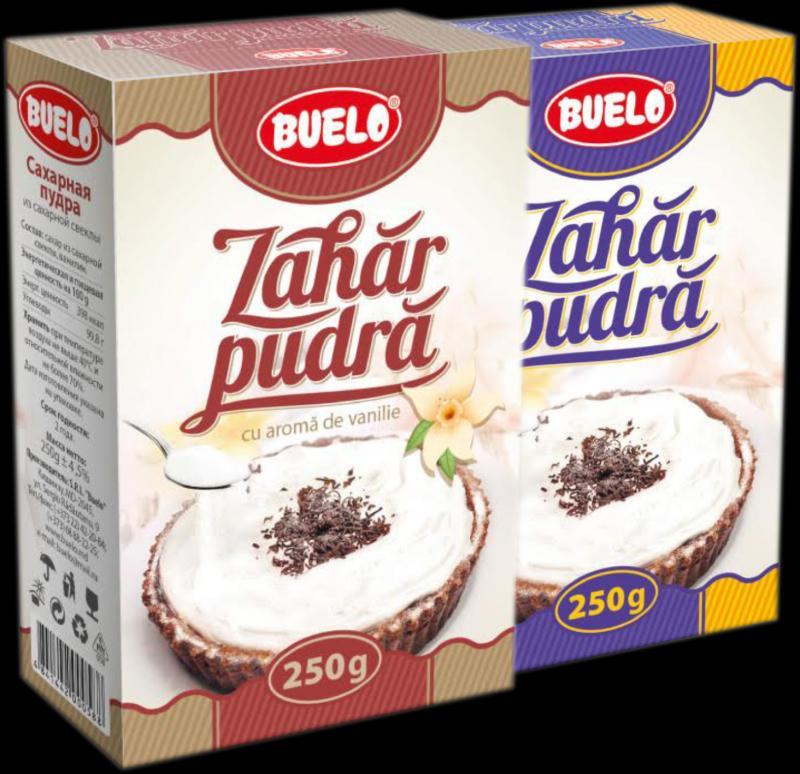 Сахарная пудра, Zahar Farin cu vanilie 250 gr cutie