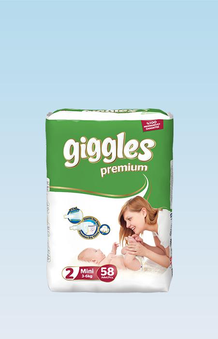 Подгузники Giggles премия Мини 3-6 Кг 58 Штук