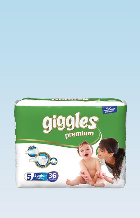 Подгузники Giggles премия Junior 11-25 Кг 36 Штук