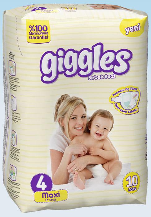 Подгузники Giggles стандартная упаковка Макси 7-18 Кг 10 число