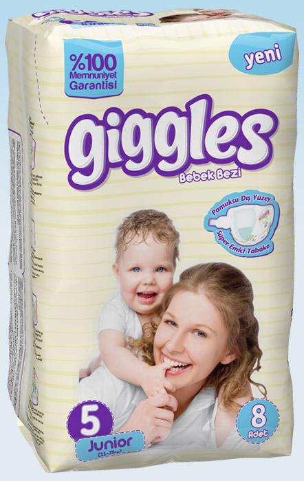 Подгузники Giggles стандартная упаковка Jonior 11-25 Кг 8 число