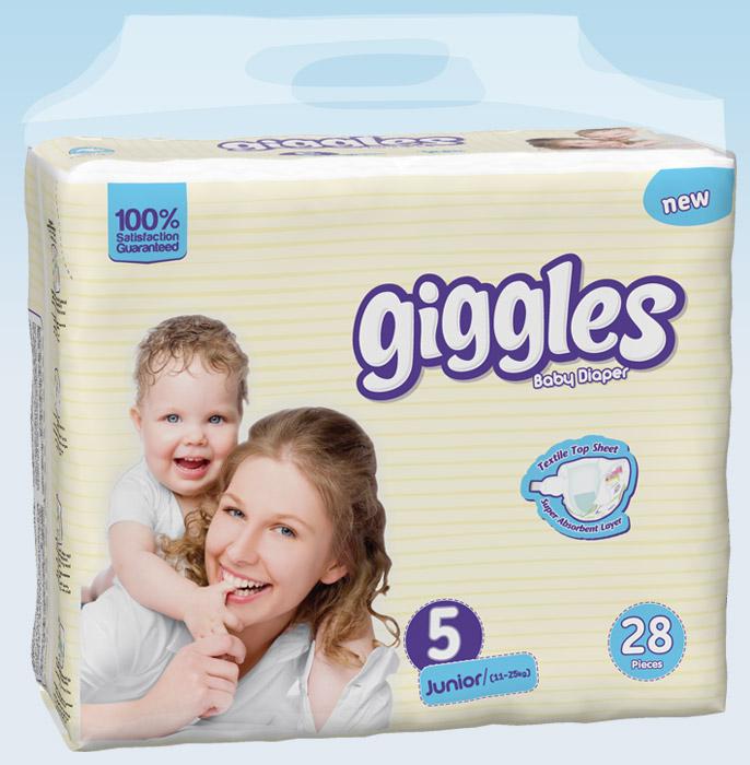 Купить Подгузники Giggles Twin упаковка Jonior 11-25 Кг 28 число