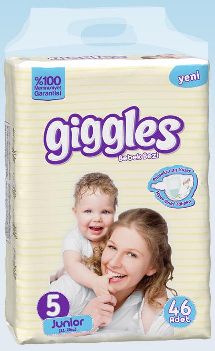 Подгузники Giggles Jumbo упаковка Jonior 11-25 Кг 46 число