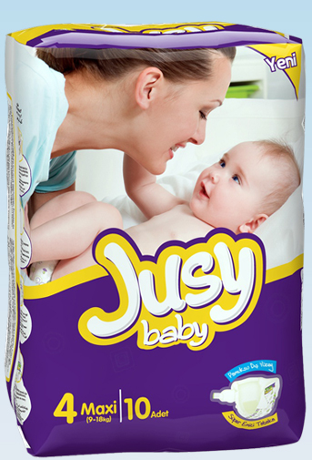 Подгузники Jusy Standart упаковка Макси 9-18 Кг 10 Штук