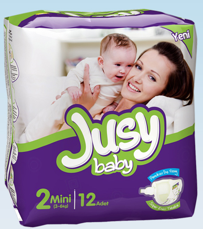 Diapers Jusy Standart packing Mini 3-6 Kg 12 Pieces