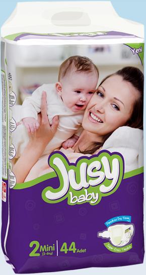 Подгузники Jusy Twin упаковка Мини 3-6 Кг 44 Штук