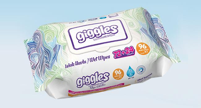 Влажные салфетки Giggles 96 Штук