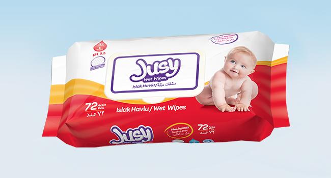 Влажные салфетки Jusy 72 Штук