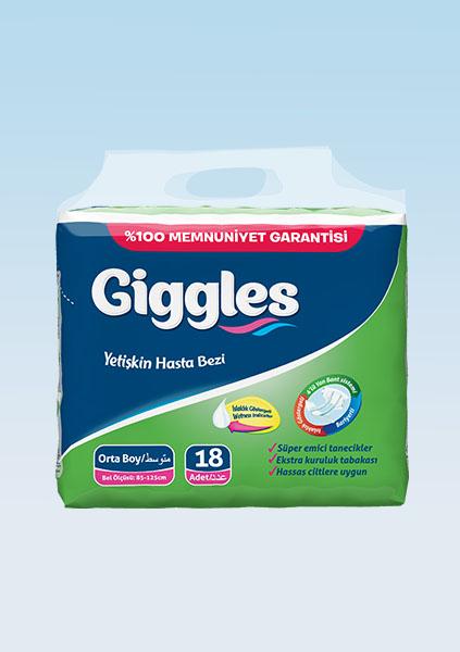 Купить Подгузники для взрослых Giggles Eco упаковка 85-125 cm 18 Штук