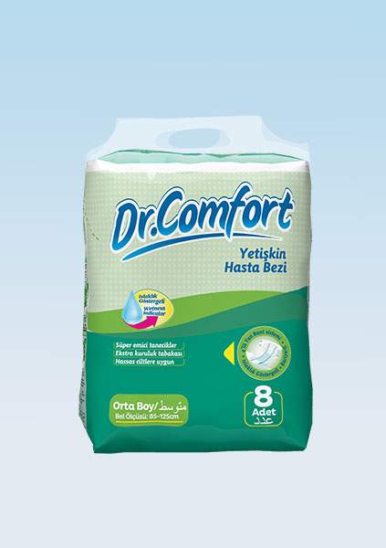 Buy Diapers for adults Dr. Comfort standard packing 85-125 cm 8 Pieces