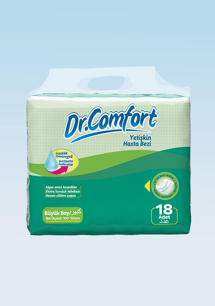 Buy Diapers for adults Dr. Comfort Eco packaging 100-150 cm 18 Pieces