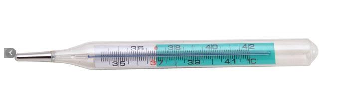 Медицинский стеклянный термометр EXATHERM - без ртути в сумке