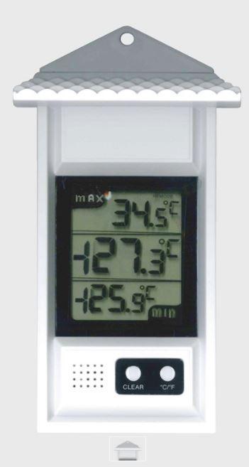 Купить Цифровой максимум-минимальный термометр -20 + 70 ° C, пластик, белый
