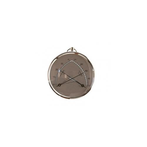 Гигрометр с термометром серебристый