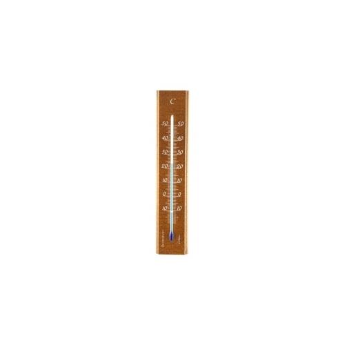 Термометр деревянный комнатный 140x30-дуб 101402