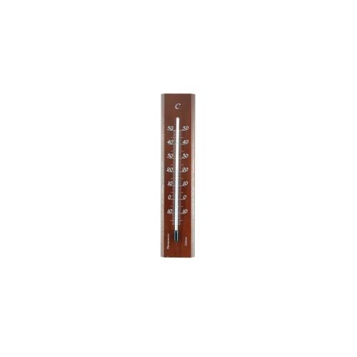 Термометр деревянный комнаты140x30-красное дерево 101403
