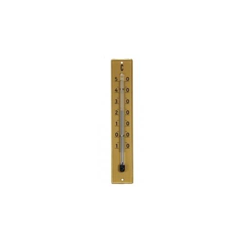 Комнатный термометр пластиковый 100х20мм-золото 801601
