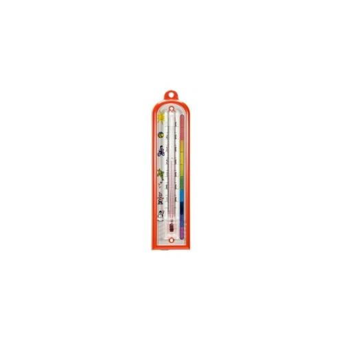 Комнатный термометр пластиковый, детский 165x40 мм-красный 101074