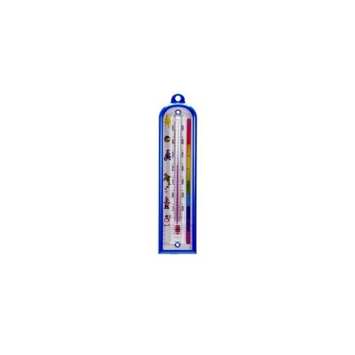 Комнатный термометр пластиковый, детский 165x40 мм-синий 101075