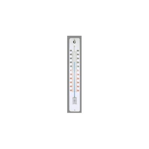 Открытый алюминиевый термометр 620x90 мм, белый 102